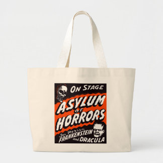 Halloween Retro Vintage Monsters Asylum of Horrors Canvas Bags