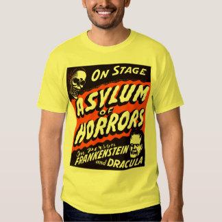 Halloween Retro Vintage Monsters Asylum of Horrors T-Shirt