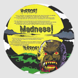 Halloween Retro Vintage Monsters Terror, Madness! Stickers