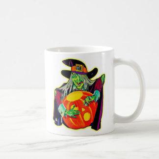 Halloween Retro Vintage Pumpkin Carving Witch Coffee Mug