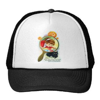 Halloween Retro Vintage Victorian Apple Bobbing Trucker Hat
