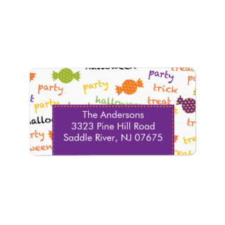 Halloween Return Address Label Fun Candy