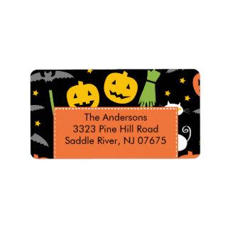 Halloween Return Address Label Fun Pumpkins