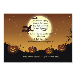 Halloween Ride Party Invitation