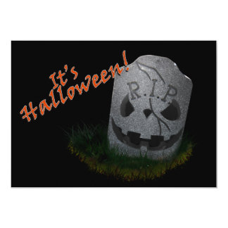 Halloween RIP Cemetery Grave Marker Card