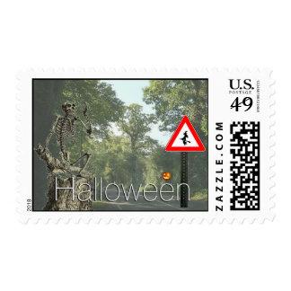 Halloween road postage