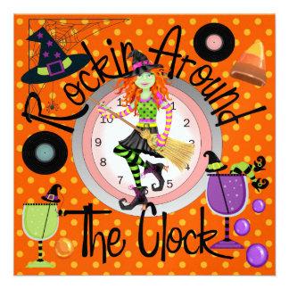 Halloween Rockin las veinticuatro horas del día va Invitaciones Personalizada