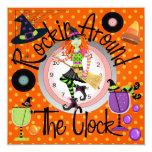 Halloween Rockin las veinticuatro horas del día va Invitación 13,3 Cm X 13,3cm