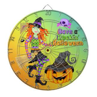 Halloween Rockin Witch Dart Board