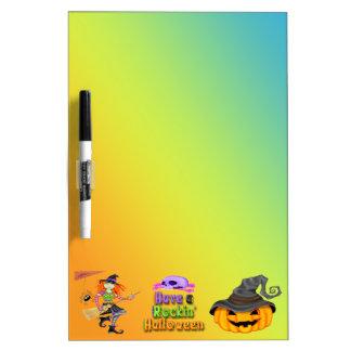 Halloween Rockin Witch Dry Erase Board