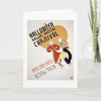 Halloween Roller Skating 1936 WPA Card