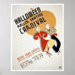 Halloween Roller Skating 1936 WPA Poster
