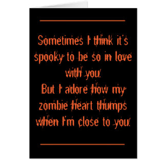 Halloween, Romantic Greeting Card