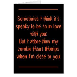 Halloween, romántico tarjeta