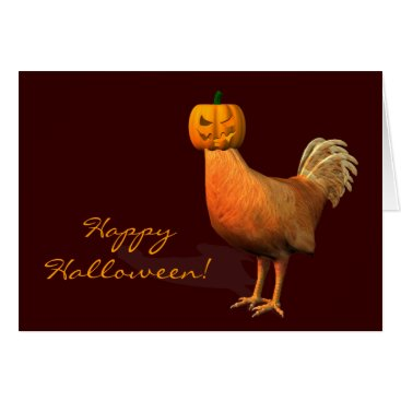 Emangl3D Halloween Rooster Card