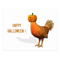 Halloween Rooster Postcard