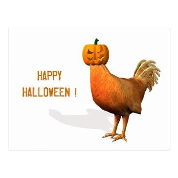 Emangl3D Halloween Rooster Postcard