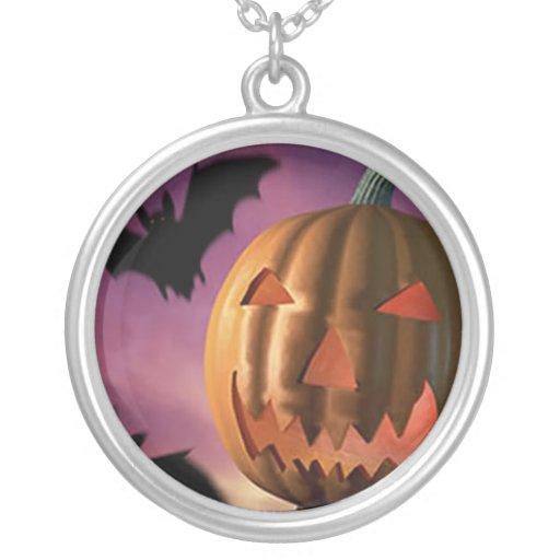 Halloween Round Pendant Necklace