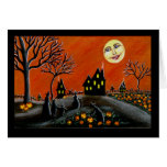 Halloween, saludo, tarjeta, brujas, Jack-O-Lintern