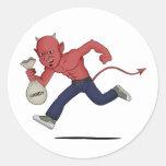 Halloween satan sticker