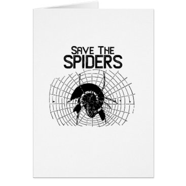Halloween Themed Halloween Save Spiders Web Costume Card