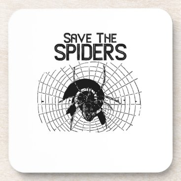 Halloween Themed Halloween Save Spiders Web Costume Coaster
