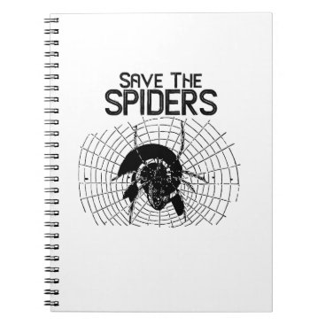 Halloween Themed Halloween Save Spiders Web Costume Notebook