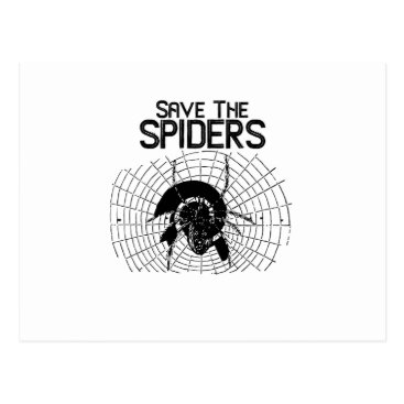 Halloween Themed Halloween Save Spiders Web Costume Postcard