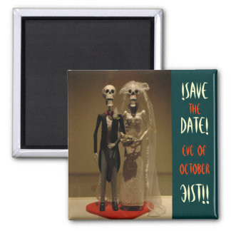 Halloween Save the DATE 2 Inch Square Magnet