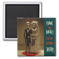 Halloween Save the DATE Fridge Magnets