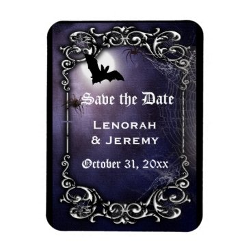 Halloween Themed Halloween save the date magnet