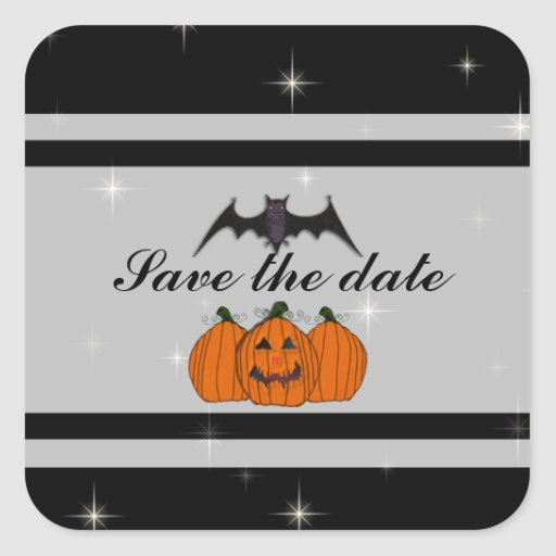 Halloween Save the date Stickers