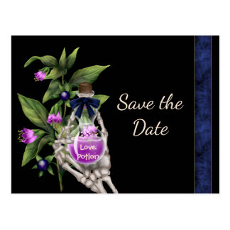 Halloween Save the Date with Purple Love Potion Postcard