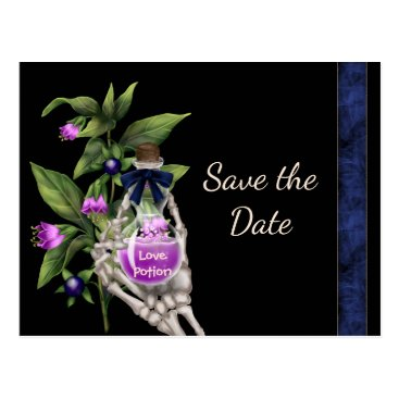 Halloween Themed Halloween Save the Date with Purple Love Potion Postcard