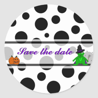 Halloween Save the dater Stickers