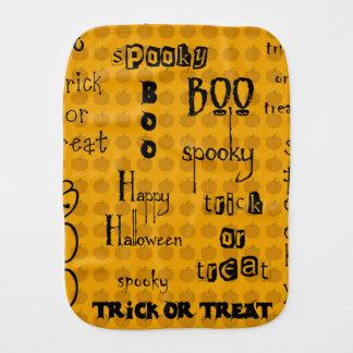 Halloween Sayings Baby Burp Cloth