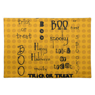 Halloween Sayings Place Mat