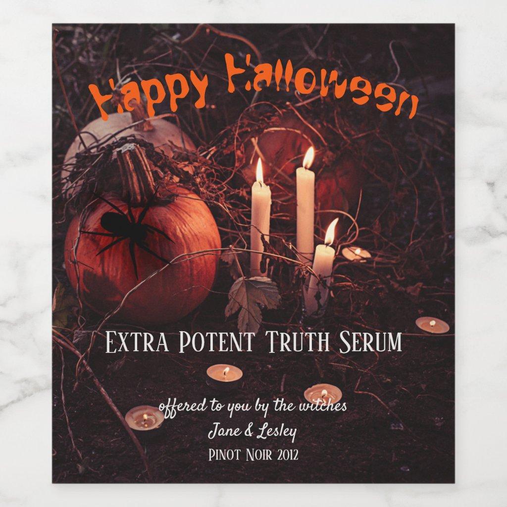 Halloween Scare Potion Wine Label