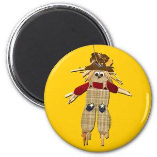 Halloween Scarecrow 2 Inch Round Magnet