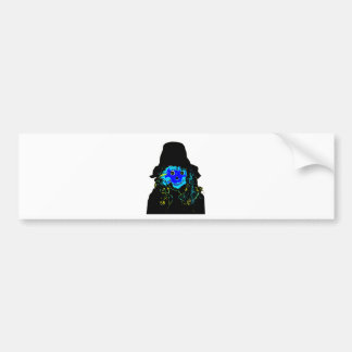 Halloween Scarecrow Blue The MUSEUM Zazzle Gifts Bumper Sticker
