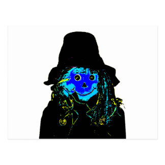 Halloween Scarecrow Blue The MUSEUM Zazzle Gifts Postcard