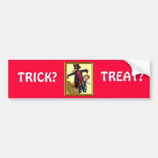 Halloween Scarecrow Car Bumper Sticker
