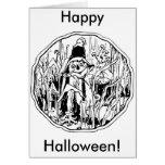 Halloween Scarecrow Card Greeting Card