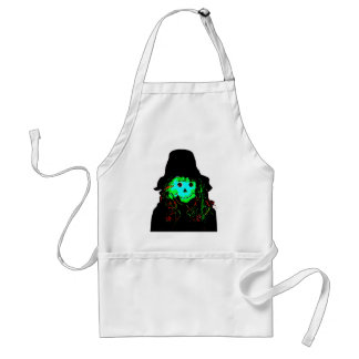 Halloween Scarecrow Cyan The MUSEUM Zazzle Gifts Adult Apron