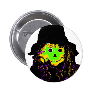 Halloween Scarecrow Green The MUSEUM Zazzle Gifts 2 Inch Round Button