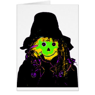 Halloween Scarecrow Green The MUSEUM Zazzle Gifts Greeting Card