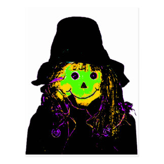 Halloween Scarecrow Green The MUSEUM Zazzle Gifts Postcard