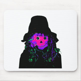 Halloween Scarecrow Magenta The MUSEUM Zazzle Gift Mouse Pad