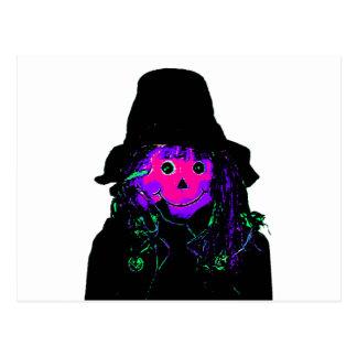 Halloween Scarecrow Magenta The MUSEUM Zazzle Gift Postcard