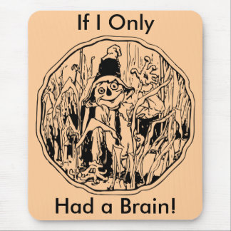 Halloween Scarecrow No Brain Mousepad